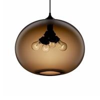 Лофт современный скандинавский Цвет Фул Стекло подвесные светильники с 6 Цвет абажур E27/E26 светодиодный подвесные светильники в простом сти