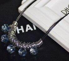 Бренд дизайнер цепь колье винтажный горный хрусталь ожерелье нагрудник себе ожерелье и независимые женщины соучастником ювелирные изделия