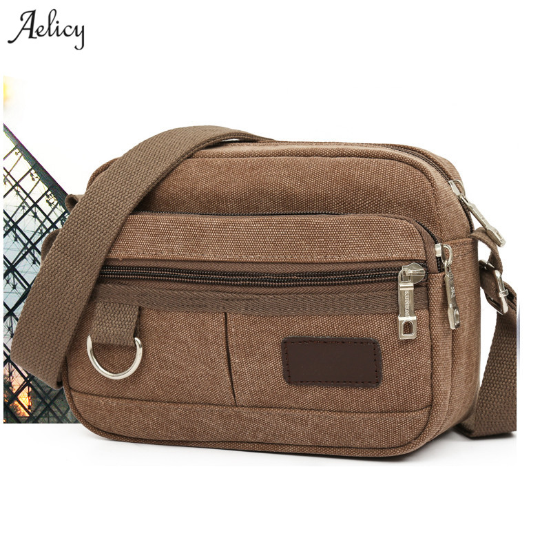 Aelicy dropshipping new 2018 hot selling Men's Travel Bag Cool Canvas Bag Fashion Men Messenger Bag Shoulder Bags bolsa feminina цена