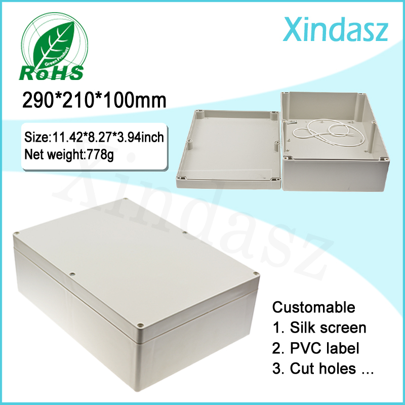290*210*100mm Plastic electrical enclosure distribution box ip65 plastic waterproof electrical junction box puppyoo mini mattress uv vacuum cleaner for home free shipping aspirator bed cleaning appliances mites killing collector wp606