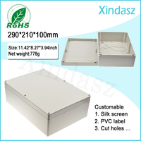 290*210*100mm Plastic electrical enclosure distribution box ip65 plastic waterproof electrical junction box