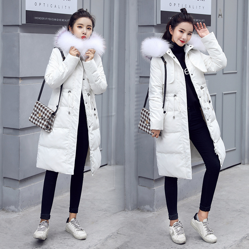 Womens down jacket winter white duck womens  Casual hooded thick coat