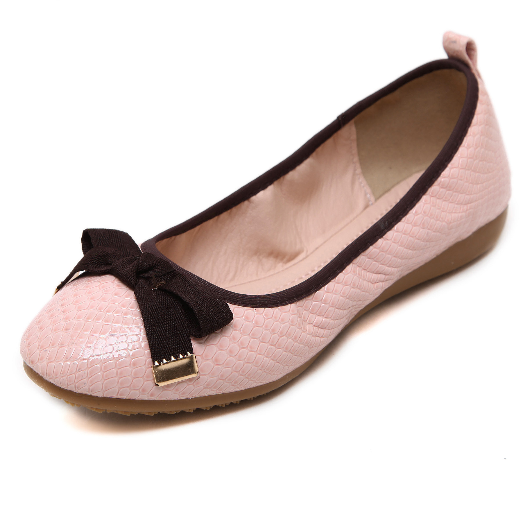 Brand New Fashion Casual Loafers Sweet Bowtie Mesh Women Ballet Flats Summer Style Shoes Woman Snakeskin Pattern Plus Size 35-40 new 2017 spring summer women shoes pointed toe high quality brand fashion womens flats ladies plus size 41 sweet flock t179