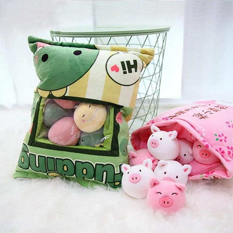 1pc 45cm bonito sacos grandes lanche pudim coelho travesseiro boneca simulacao inovador lanches lanche bonecas um