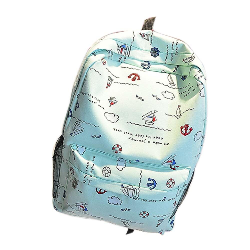 mulher mochila de lona das Tipo de Estampa : dos Desenhos Animados