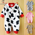 Winter Infant Baby Romper Warm Thick Long Sleeve Flannel Romper For Newborn Baby Toddler Kids Christmas Costume Jumpsuit