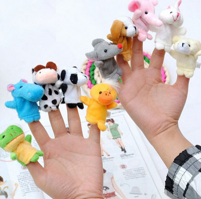10pcs/set Finger Puppets Cartoon Animal Plush Toys Lovely Animal Doll Soft Toys Kids Tell Story Finger Toys For Children Puppet