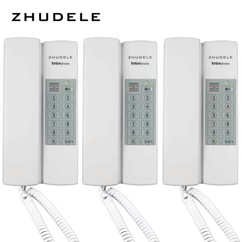 Zhudele Top Quality Safe&comfortable Home Interphone,3 Handles Audio Intercom System W/t Broadcast/group Call,unlock As Effectively As A Fairy Does optional