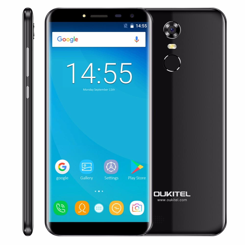Oukitel C8 5.5Inch 18:9 Infinity Display Smartphone Android 7.0 3000mAh 2GB RAM 16GB MT6580 Quad Core Fingerprint 13MP Cellphone