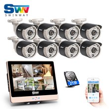 New Arrival! 8CH Plug And Play 2.0MP POE NVR CCTV Kit+12″LCD&1080P HD Outdoor+Indoor IR POE Security Camera System+2TB HDD
