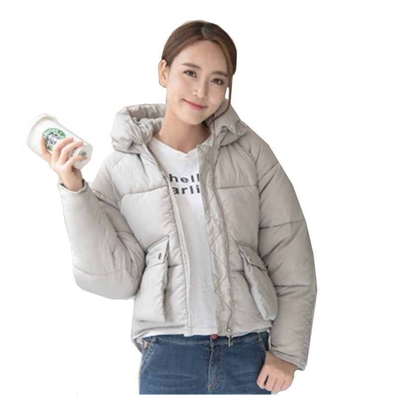 Women Down Cotton Jacket 2017 Korean New Fashion Winter Coat Solid Color Short Cotton-padded Clothes Outerwear Female YAGENZ A8