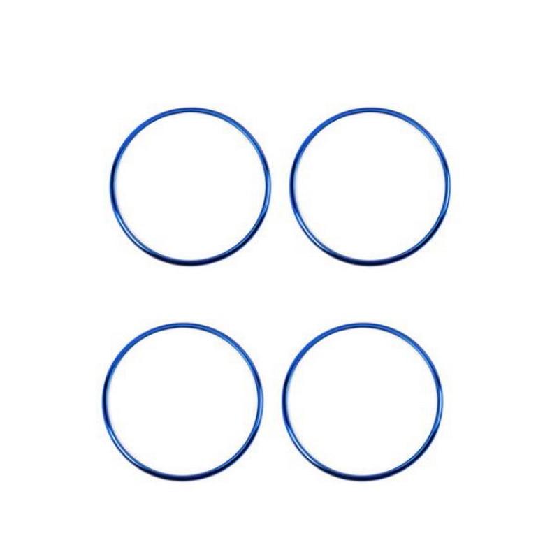 Tonlinker встроенный в дверь автомобиля колонки круг крышка наклейки для Honda vezel HRV Автомобиль Стайлинг 4 шт. ABS крышка наклейки - Название цвета: blue