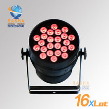 16X LOT Hex Lion Rasha 24*18W 6in1 RGBAW UV Alumnium LED Par Light UV LED Par Can Stage LED Projector  For Stage Party