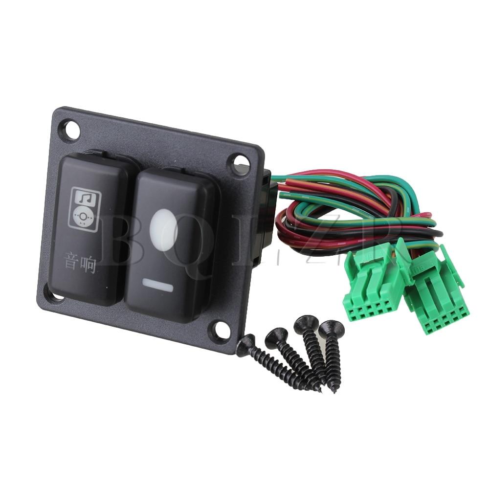все цены на BQLZR Overload Protection 2 Gang Green Pattern Switch Panel for Toyota Old Style онлайн