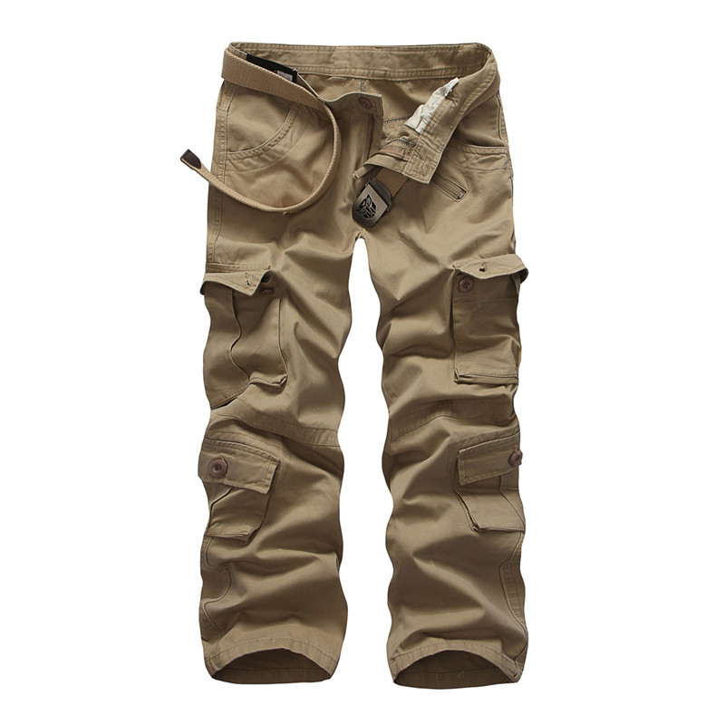 2015 New men cargo pants army military multi-pockets decoration casual cotton trousers 7 colors 28-38 - MISNIKI Official Store store