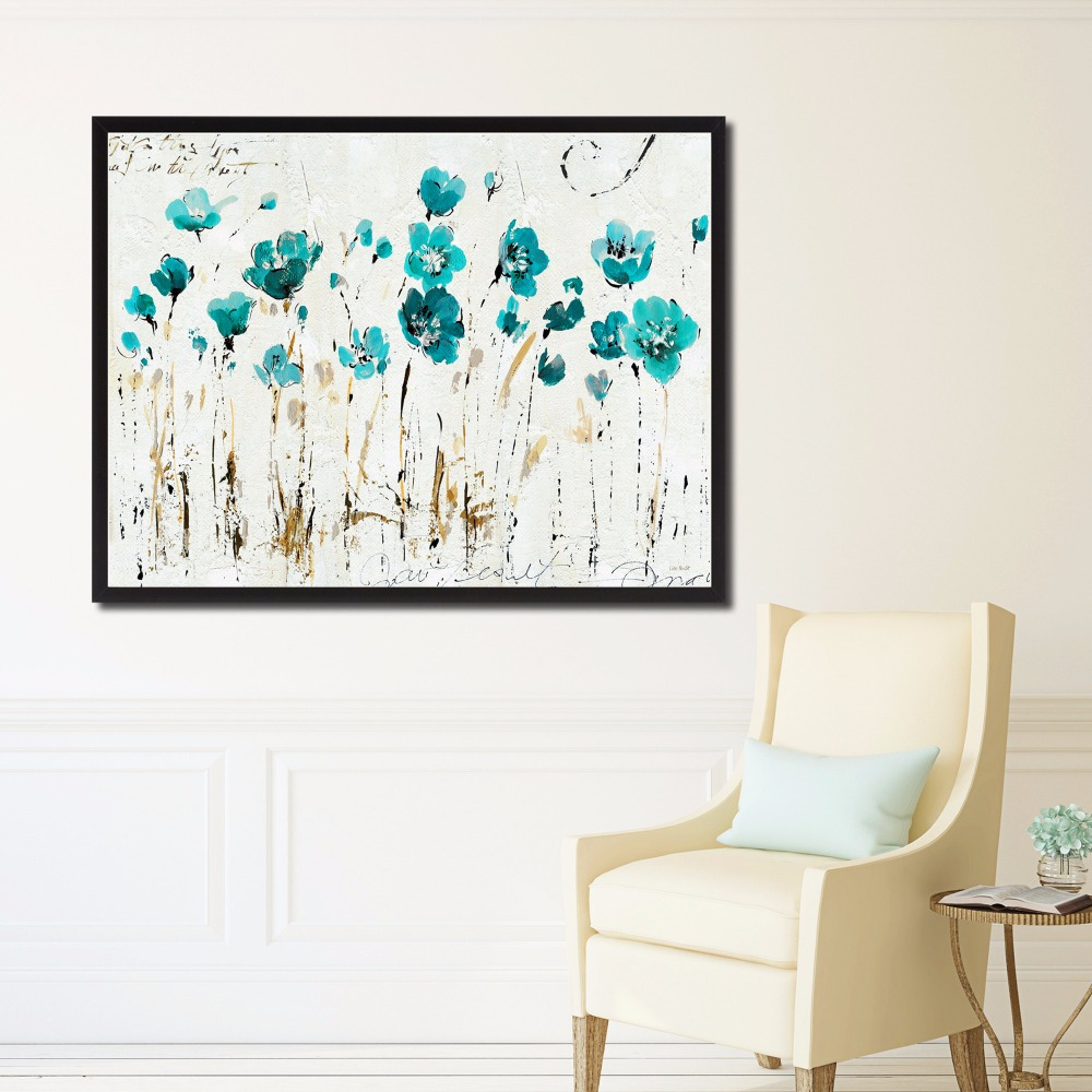 Little Flowers Artwork Canvas Art Print Painting Poster Wall Pictures For Living Room Home Decorative Wall Decor No Frame in Painting Calligraphy from Home Garden