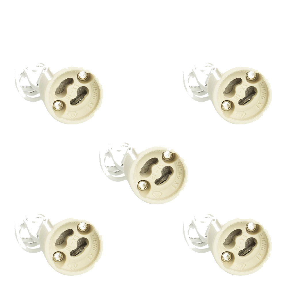 5pcs GU10 Ceramic Base Cap Socket Converter / Energy Efficiency Class A