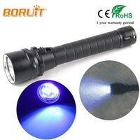 Ultraviolette 395-400nm Duiken Licht 3x XPE Linterna LED UV Zaklamp Paars Licht Waterdichte Onderwater Torch door 2x18650 Batterij