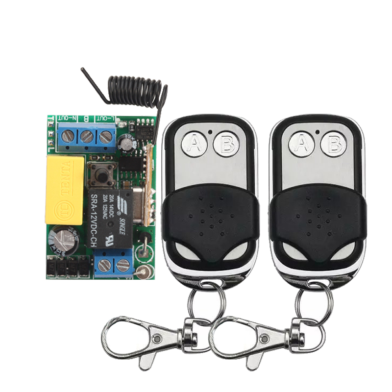 1CH AC 220V RF Wireless Mini Switch Relay Receiver 2CH Remote Controllers Lighting LED Lamp ON OFF Learning Switch my2n j mini relay relay block ac 220v
