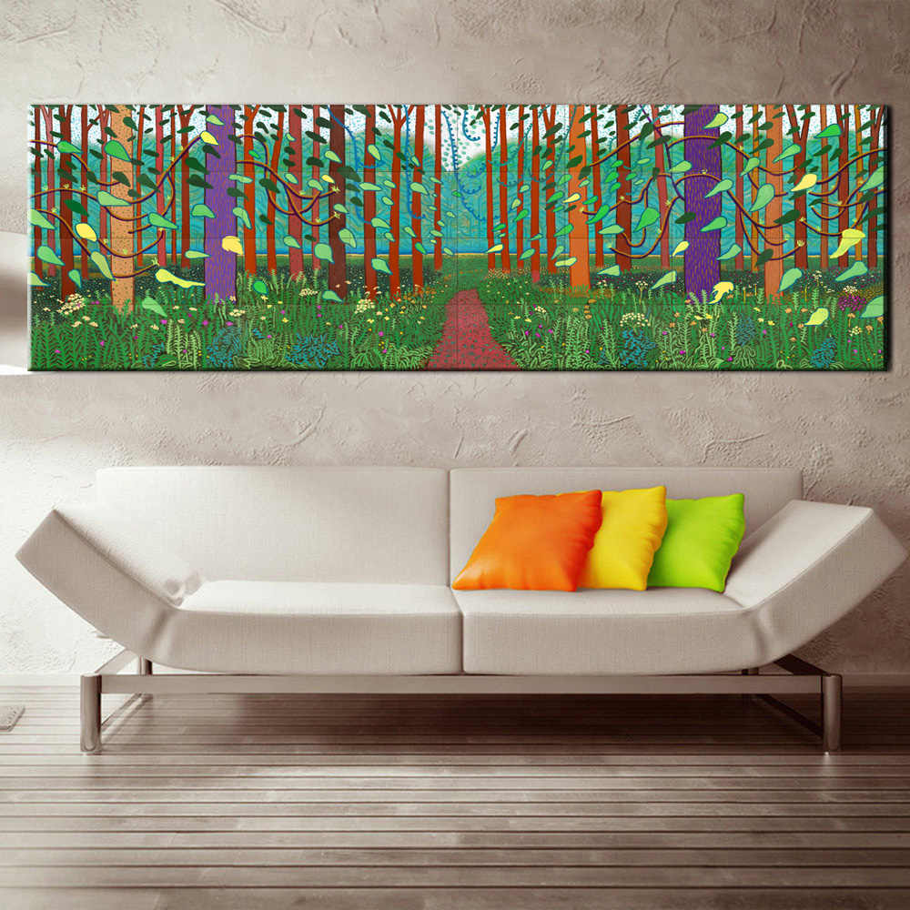XX3215 david hockney winter timber oil painting huge sizes Giclee poster print on canvas for wall painting
