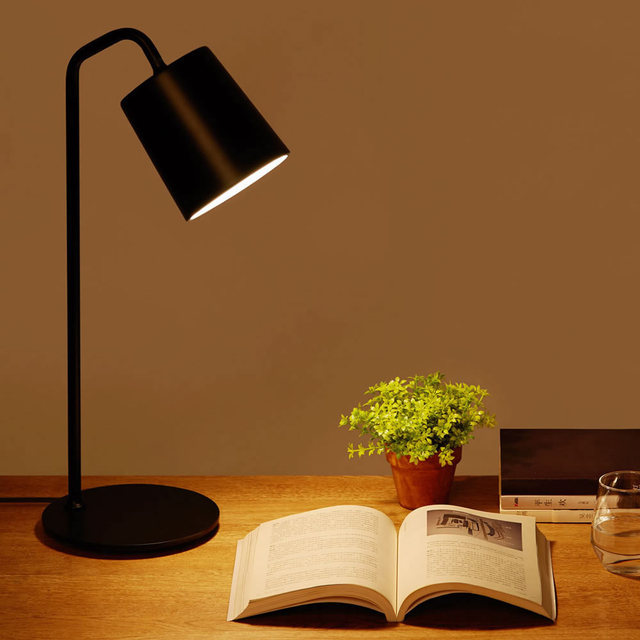 Original Yeelight Minimalist Wrought Iron Desk Lamp E LED Bulb - Discount table lamps bedroom