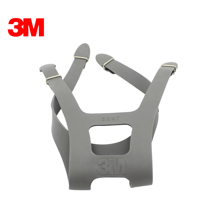 1pc 3M 6897 Headband Strap fit for 6700/6800/6900 respirator mask replace Strap Four fixed firm durable rubber Headband цена