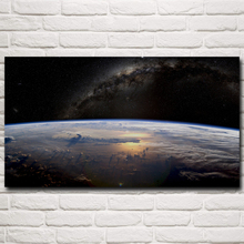 Space Earth Sky Science Fiction Artwork Art Silk Poster Prints Home Wall Decor Pictures  11×20 16×29 20×36 Inches Free Shipping