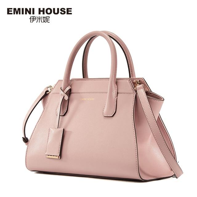Эмини дом Разделение кожа Сумка Мода трапеция Для женщин Курьерские сумки Для женщин известных брендов Сумки через плечо для Для женщин