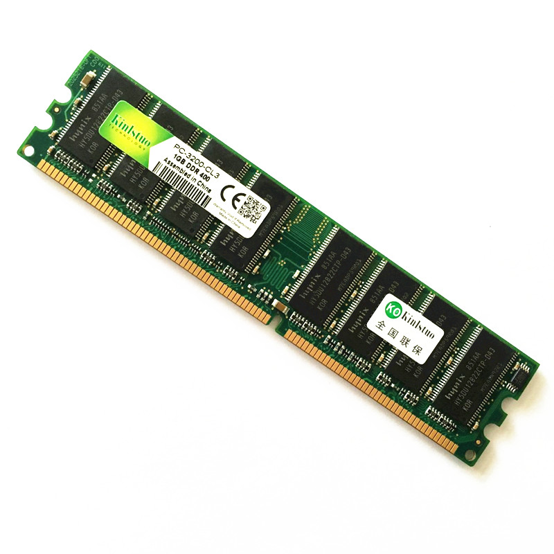 Kinlstuo DDR1 400MHz 1GB Rams pc 3200 New DDR 333MHz 1GB full compatible for desktop & laprop