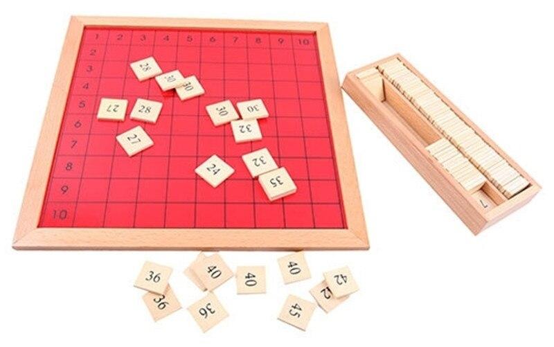 Nouveau bébé en bois jouets Montessori Pythagoras conseil d'apprentissage éducatif préscolaire formation bébé cadeaux