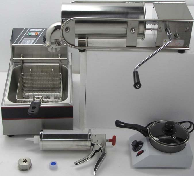4 in 1 5L Manual Spainish Churro Maker with Deep Fryer and Chocolate Melter