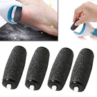 Mayitr 4pcs Extra Coarse Replacement Refill Roller Head Dark Gray For Electric Pedicure Foot File Tools