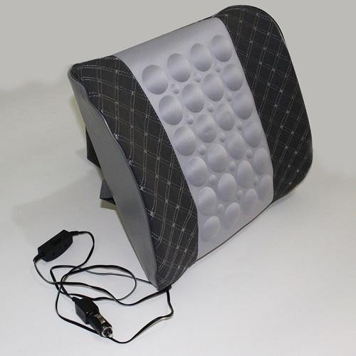 Автомобильное сиденье поясничная поддержка с DC 12 В автомобильный массаж вибрационная поясная подушка поясничная Подушка для спины облегчение боли в спине автомобильные аксессуары - Название цвета: gray