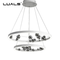 Simple Modern Pendant Lamp Glass Decoration ball Suspension Luminaire Fashion Pendant Light Ring Hanging Lights Art LED Lighting