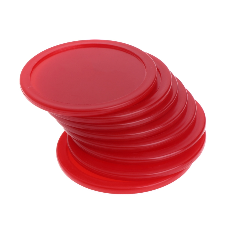 8Pcs/Set 64mm Red ABS Air Hockey Children Table Game Mallet Puck Goalies Ice Pucks