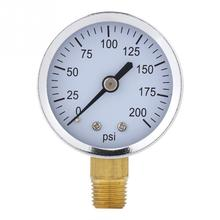 цена на 0-200Psi 1/4 Inch 52Mm Dial Accurate Pressure Gauge Manometer Pressure Measuring Tools for Fuel Air Oil Water Professional Met
