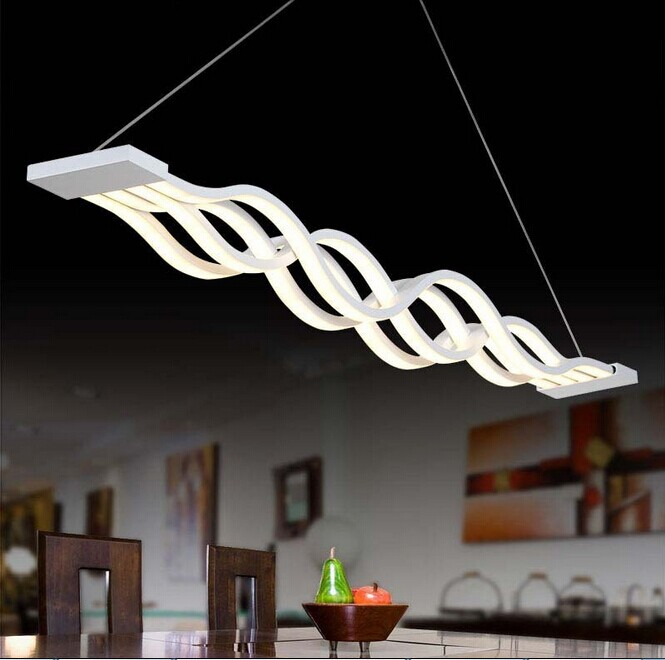 Neue Kreative Moderne LED Pendelleuchten Acryl Welle Hngen Lampe Esszimmer Wohnzimmer Pendelleuchte 110 V 220