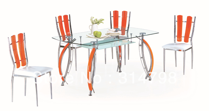 Modern Design Dining Table Made Of Tempered Glass With Chromed Legs  Attached Wood, Fashional Dining Sets In Dining Tables From Furniture On  Aliexpress.com ...