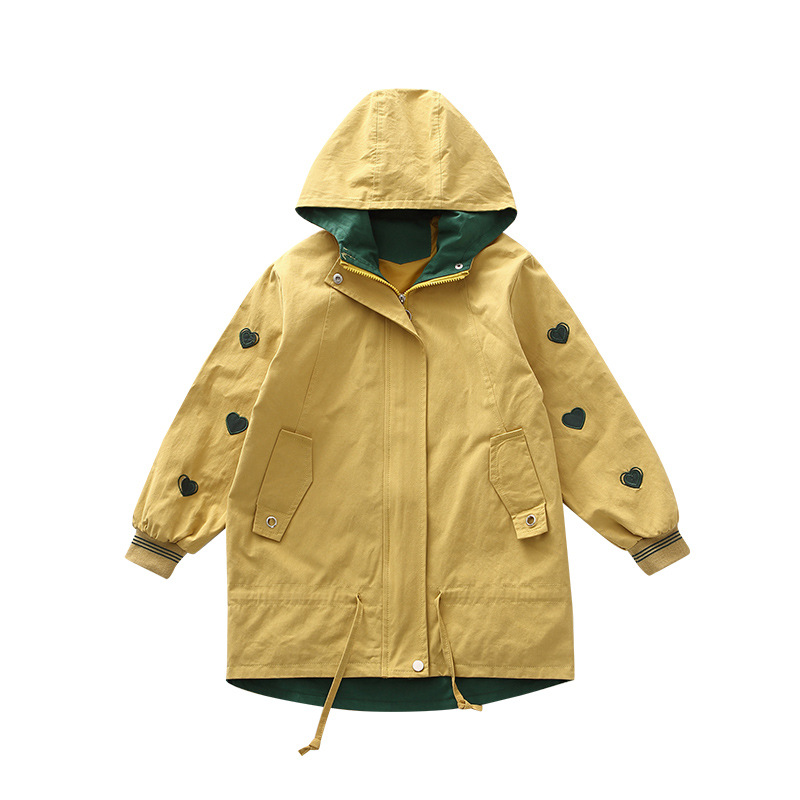 Windbreaker Girls Jacket Girl Outerwear Kids Coats & Jackets Children Toddler Cardigan 6~16Y Spring Autumn   Trench   Outfits CA879