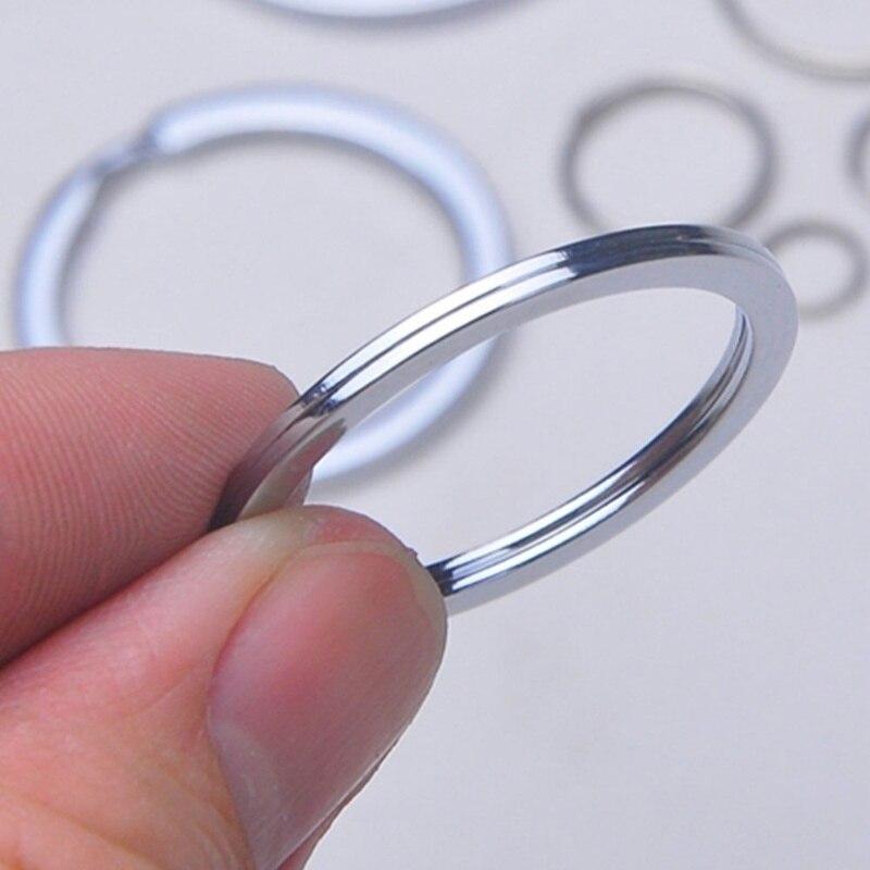10//20PCS 25mm Metal Key Holder Split Rings Keyring Keychain Keyfob Accessories