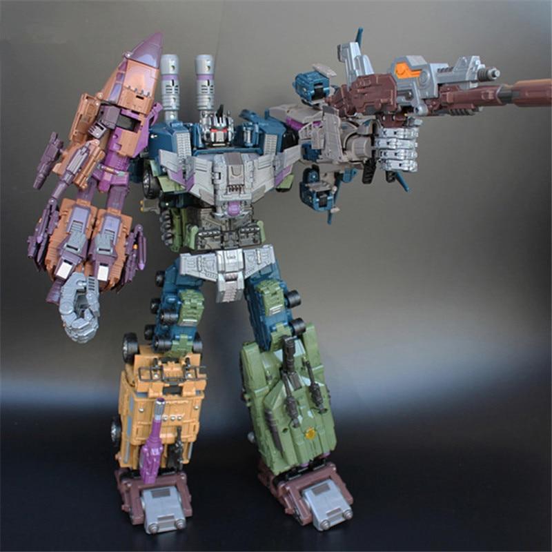 JinBao 5 in 1 Devastator Transformation Toy Oversize 43CM Cool Anime Action Figure Robot Car Military