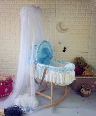 цены  Newborn baby baby cradle sleeping blue handbasket portable crib shaker crib bed with mosquito net
