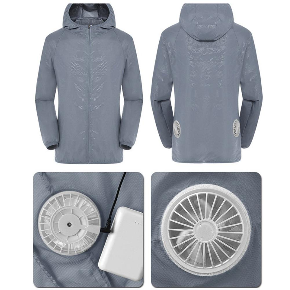 Summer Air Conditioning Service Intelligent Three-speed Cooling Clothe Set USB Air Conditioning Suit With Fan UV Protection Wear