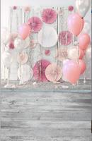 New Arrival Vinyl Print Cloth Newborn Birthday Balloons Flower Backgrounds Backdrops For Photo Studio Photography Panel
