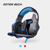 KOTION EACH G2000 Headband Gaming Headset 3 5mm Wired Headphones W Microphone LED Noise Canceling For