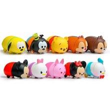 10pcs/set Tsum Tsum Figures Toys Mickey Minnie Donald Duck Daisy Chip Dale Goofy Pluto Bear Piglet PVC Action Figures Toys Gift