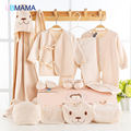 12 peças de roupa do bebê terno de algodão colorido orgânico algodão colorido bebê recém-nascido caixa de presente lua cheia do bebê terno do bebê
