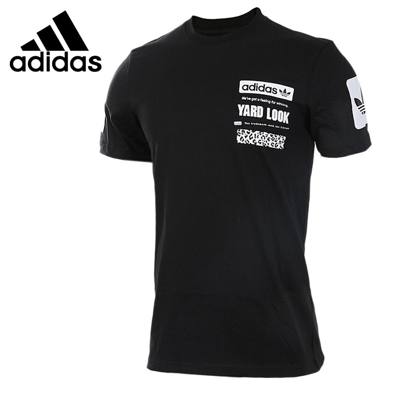Original New Arrival Adidas Originals S/S GRAPHIC TEE Men's T-shirts short sleeve Sportswear contrast v neck graphic print tee