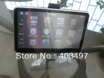 5 inch GPS Navigator without Bluetooth&AV IN 4GB load 3D Map new navitel map