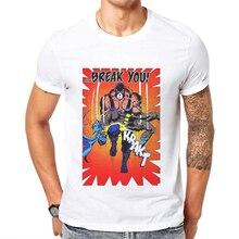 2019 Men Tshirt Summer Cotton Mens T Shirts Fashion Short Sleeve Tops Break You Batman Printed Hipster T-Shirt Funny